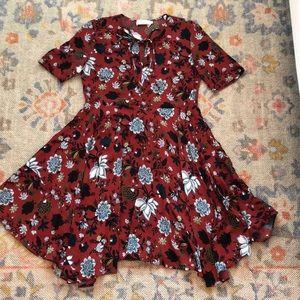 ALC printed silk dress size 6